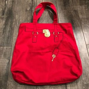 MICHAEL Michael Kors Red Canvas Tote Bag